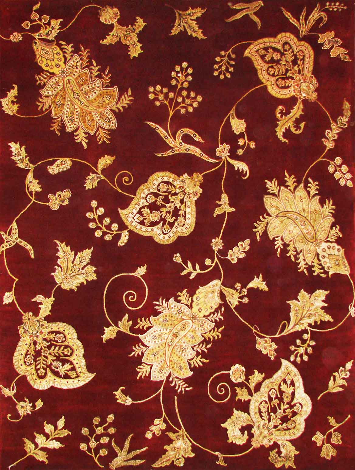 Transitional Rugs & Casual Rugs-10x10 SLK FLOWER-Oriental Designer Rugs