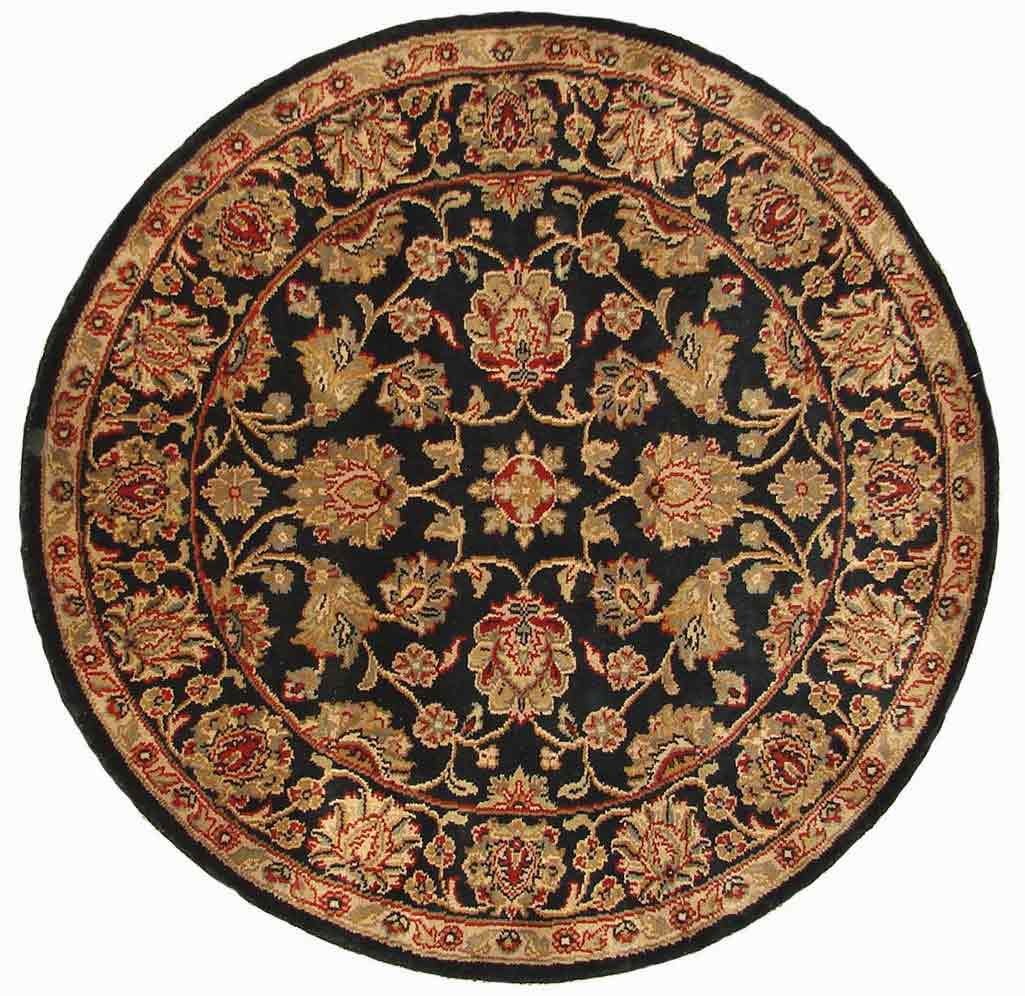 Hand Knoted Black - Charcoal colors Round & Octagon Rugs ...