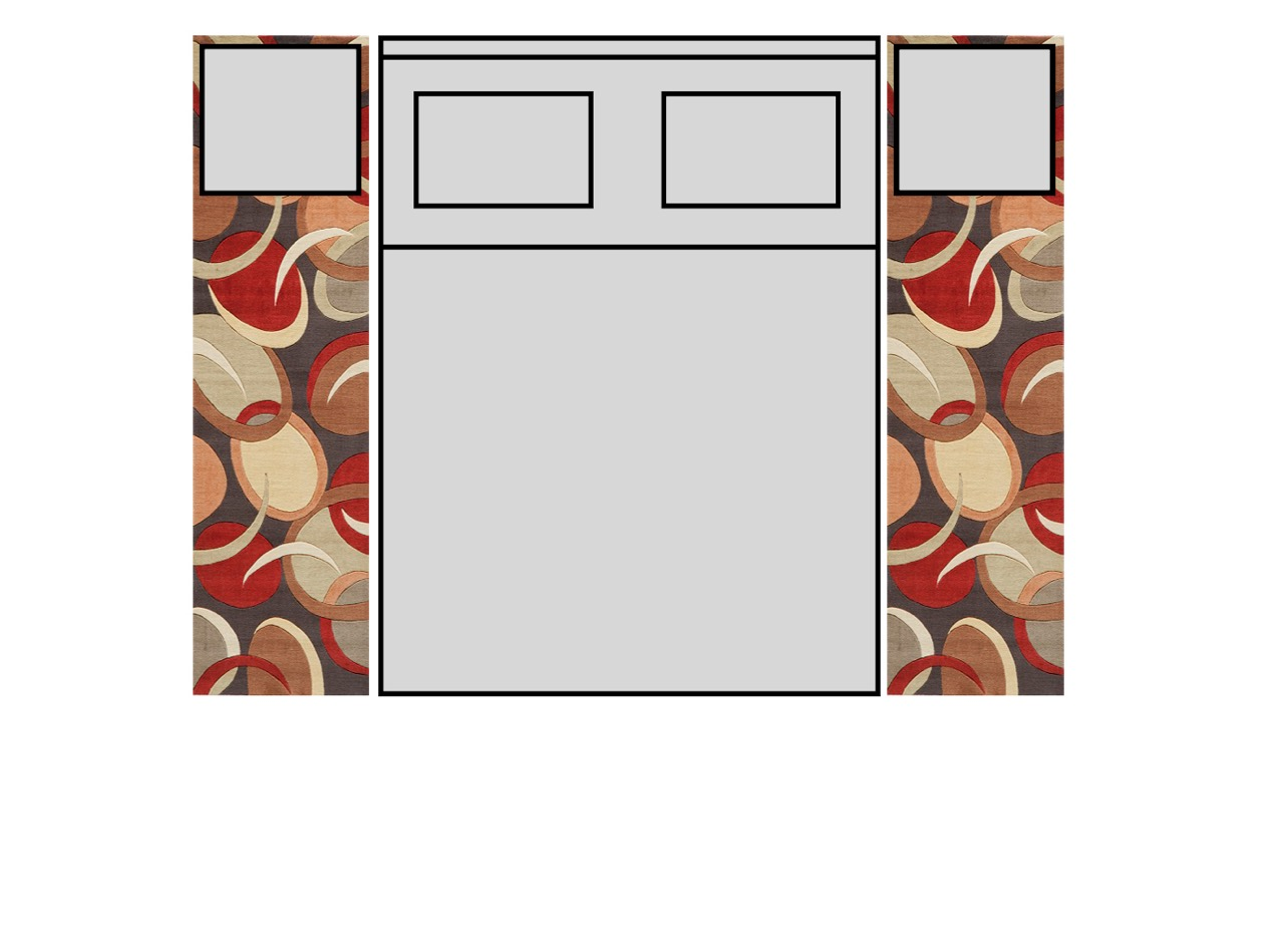 Bedroom Queen Size Bed With Runners6 jpeg. Rug Size For Bedroom With Queen Bed. Home Design Ideas