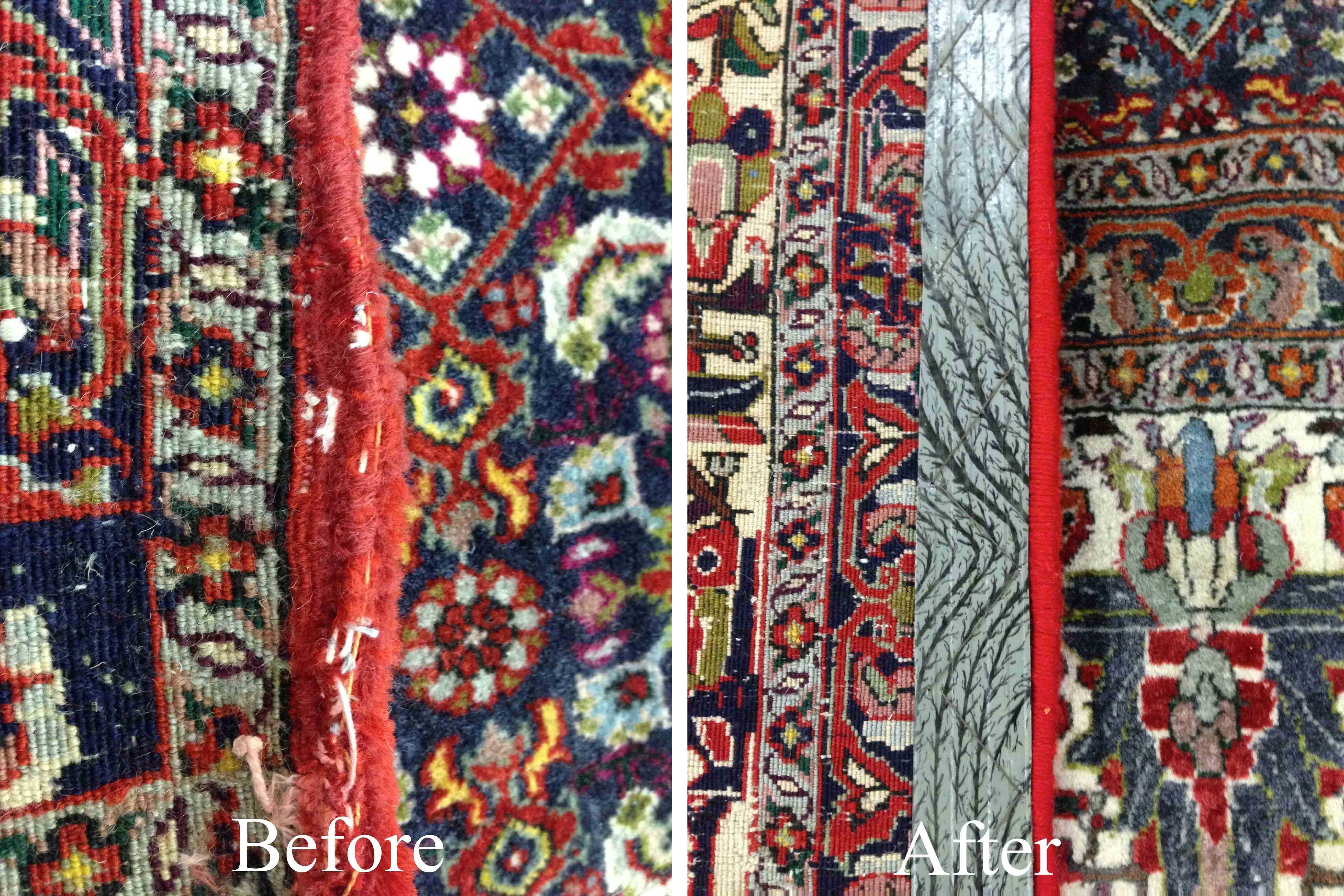 Binding With Stripes Rug Repair And Restoration