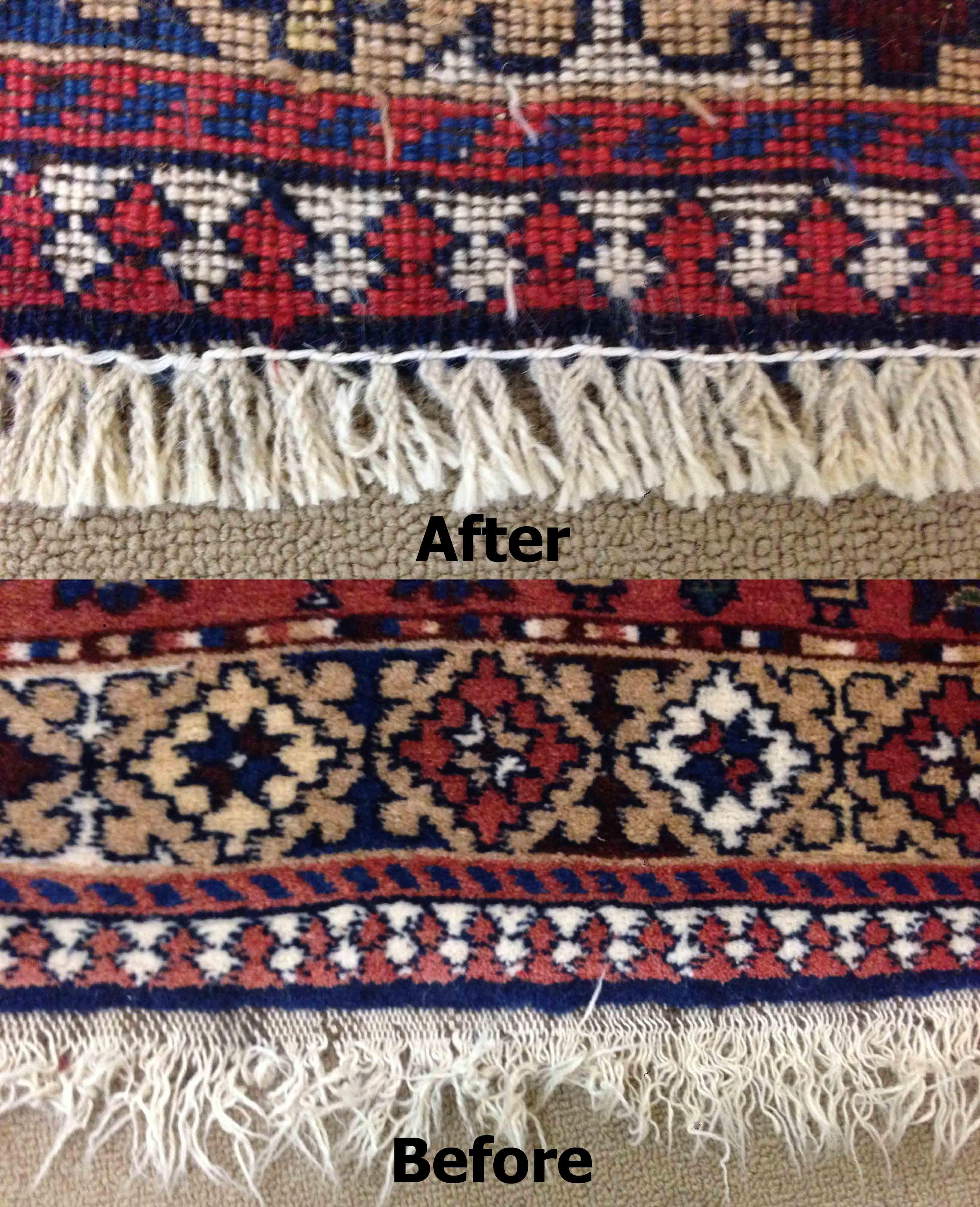 Rug Re-weaving At Oriental